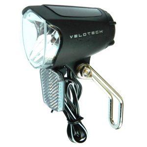 velotech 70 ledes dinamós első lámpa állófénnyel