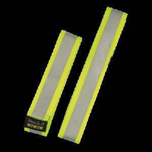 wowow fényvisszaverő szalag tépőzáras textil sárga