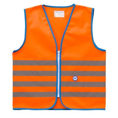 wowow fun jacket láthatósági mellény gyerek narancs copy