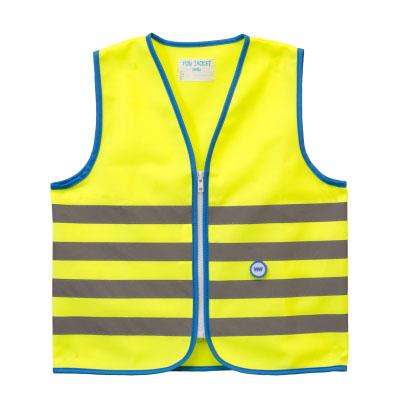 wowow fun jacket láthatósági mellény gyerek sárga copy