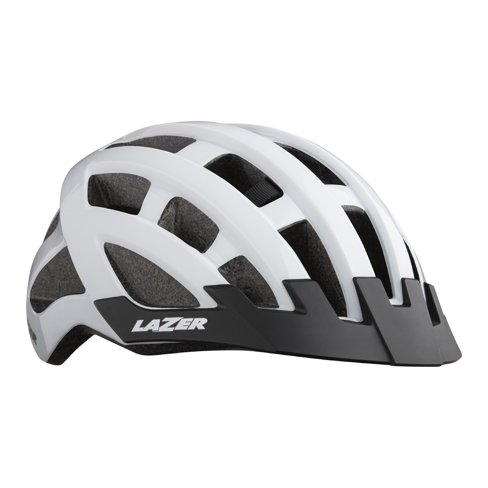 lazer-compact-kerékpáros sisak fehér